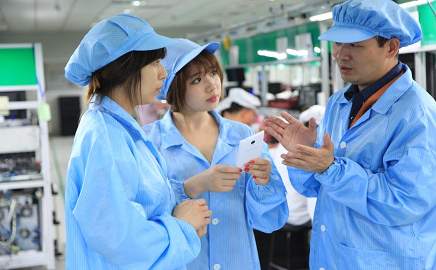 激光位移传感器用于手机行业检测