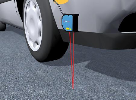 激光位移传感器测量汽车距离地面高度